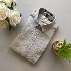 Volcom Men's Medium Long Sleeve Button Down